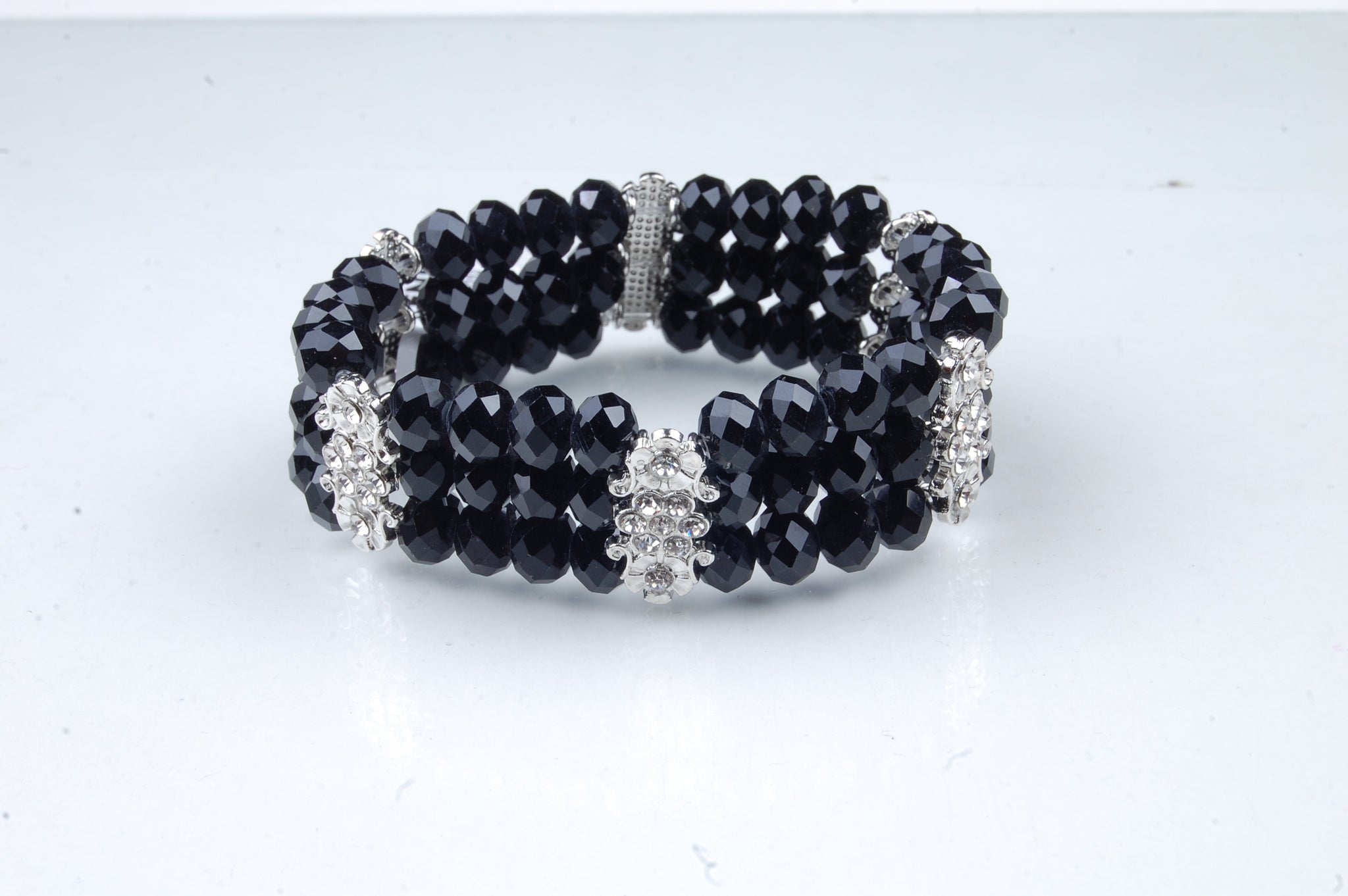 N-205: Crystal Flower Bar Bracelet