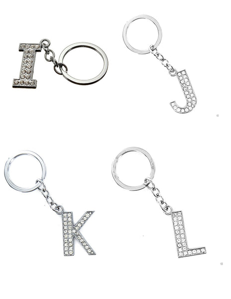 A-Z Rhinestone Bling Crystal Alphabet Letters, Lovers Key-Chains Rhinestone Crystal Handbags Charms