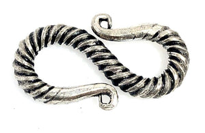 92.5 Sterling Silver Toggle Clasp, Solid Sterling Silver Clasp 20mm