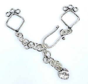 92.5 Sterling Silver Toggle Clasp, 25 mm Solid Sterling Silver Toggle Clasp Connector