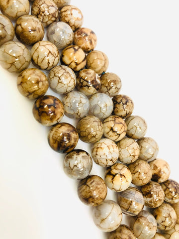 Natural Brown Indian Agate Beads, Agate Smooth Beads, Round Shape Beads