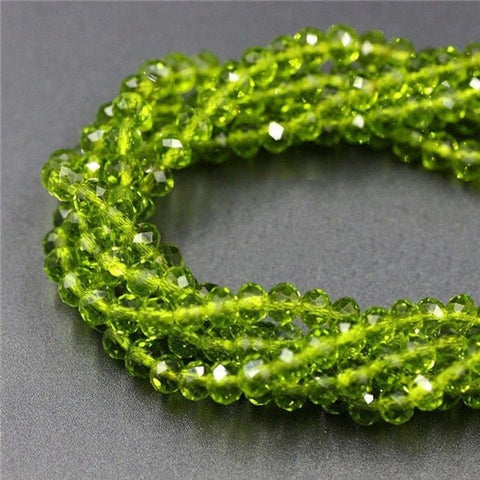 Crystal Beads, Crystal Rondelle Olive 6mm 6 Strands Beads