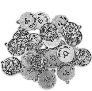 Zodiac Sign Charm Set 16mm Jewelry Making Zodiac Sign Charm Set 24 Pcs