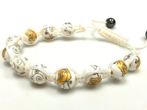 Ceramic Porcelain Shamballa Bracelet With Hematite beads 10mm