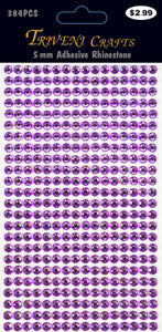 Rhinestone Dot Stickers - 5mm - Lavender