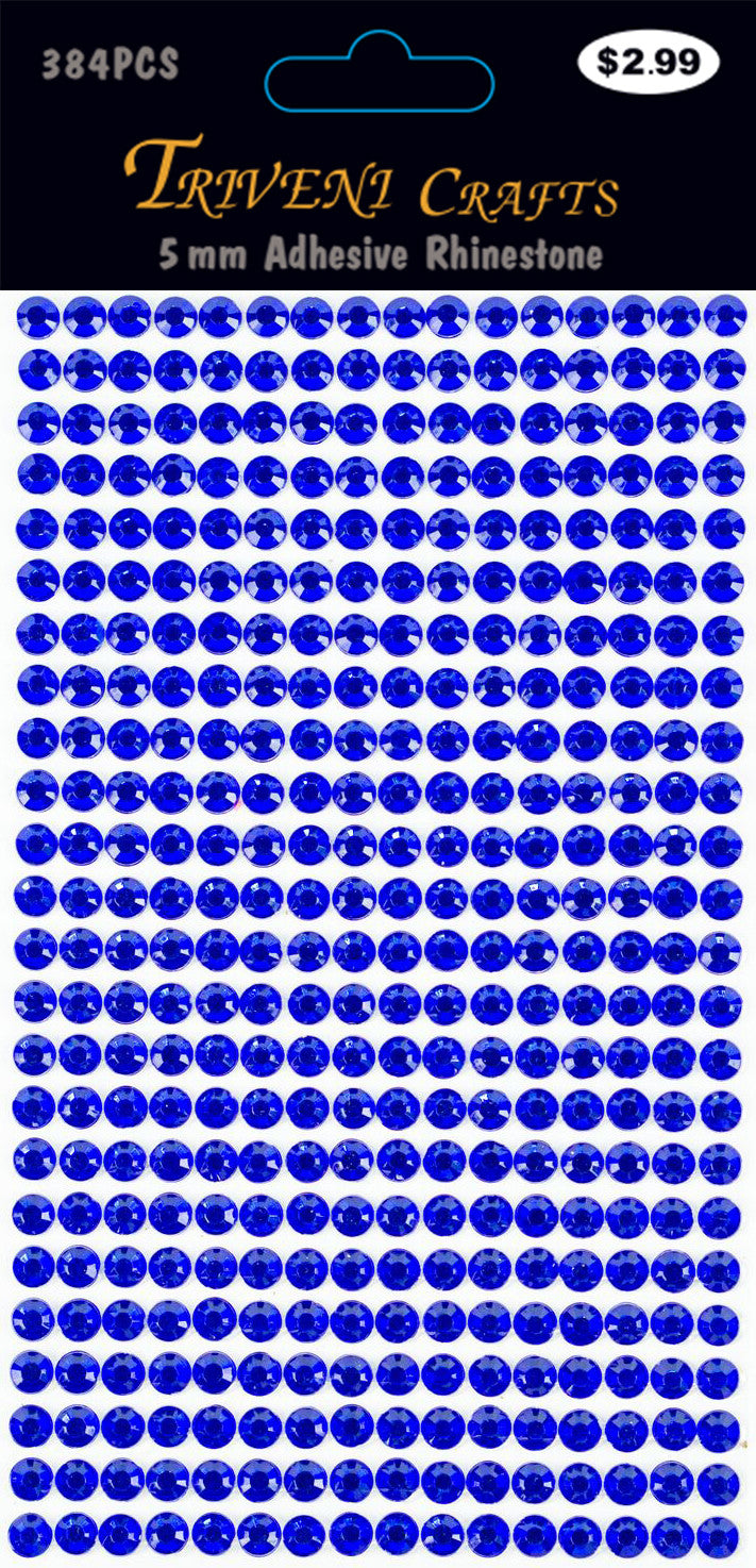 Rhinestone Dot Stickers - 5mm - Royal Blue