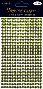 Rhinestone Dot Stickers - 5mm - Olive