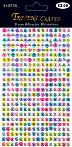 Rhinestone Dot Stickers - 5mm - Multi