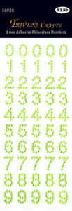 Rhinestone Number Stickers - Peridot