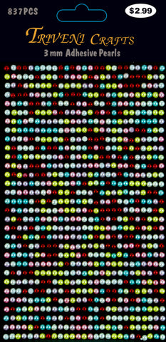 Pearl Dot Stickers - 3mm - Multi