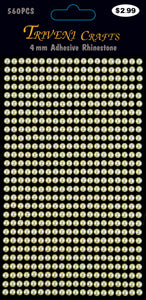Pearl Dot Stickers - 4mm - Beige