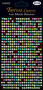 Pearl Dot Stickers - 4mm - Multi