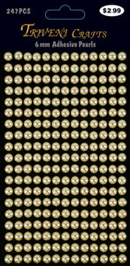 Pearl Dot Stickers - 6mm - Beige