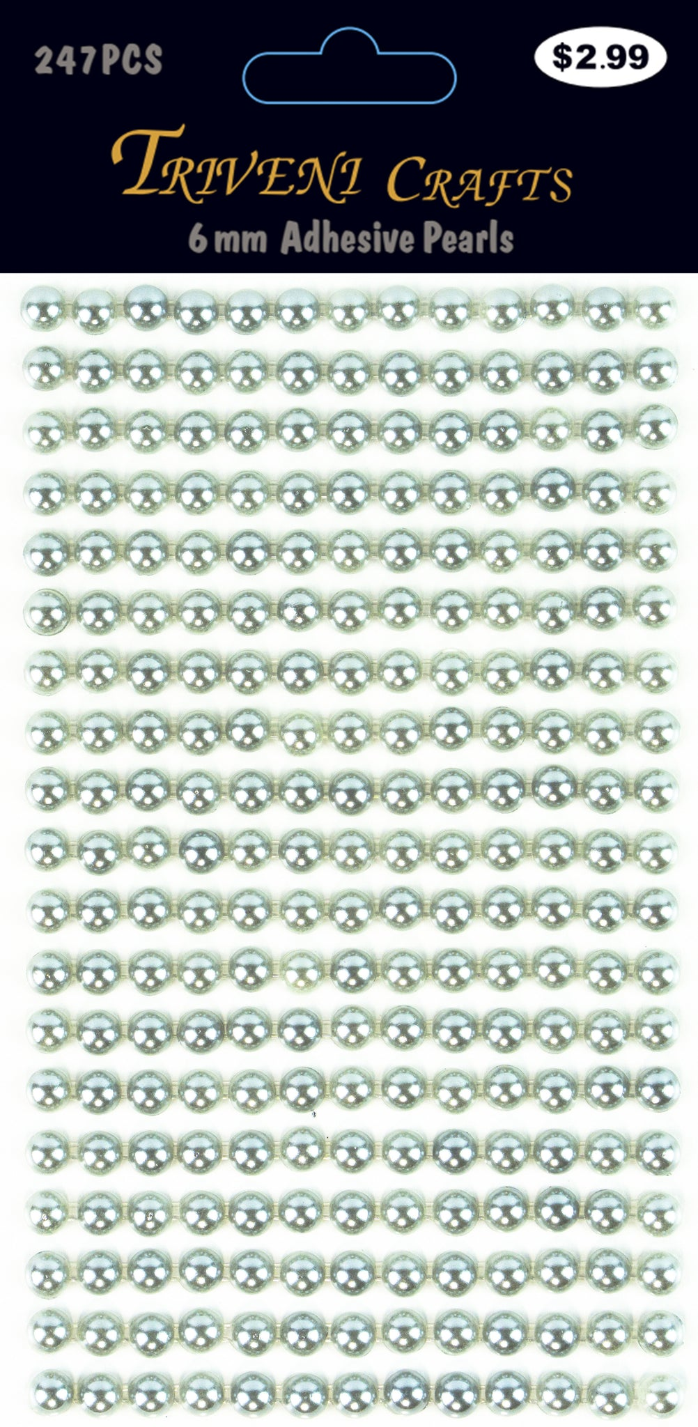 Pearl Dot Stickers - 6mm - Silver Grey