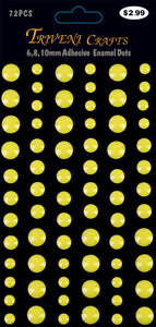 Enamel Dots Stickers - 6-10mm - Yellow