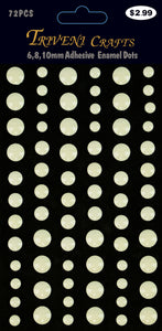 Enamel Dots Stickers - 6-10mm - White