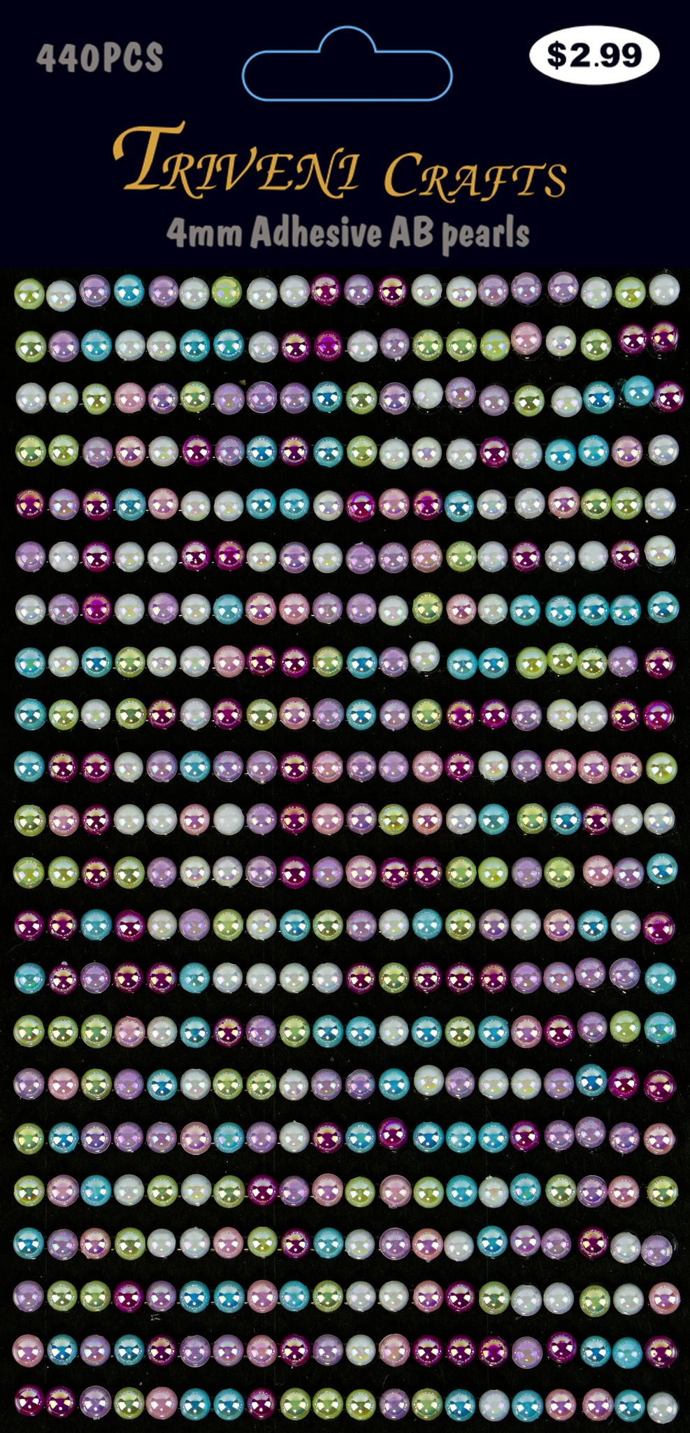 AB Pearl Stickers - 4mm - Multi