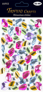 Rhinestone Nuggets Stickers - Multi