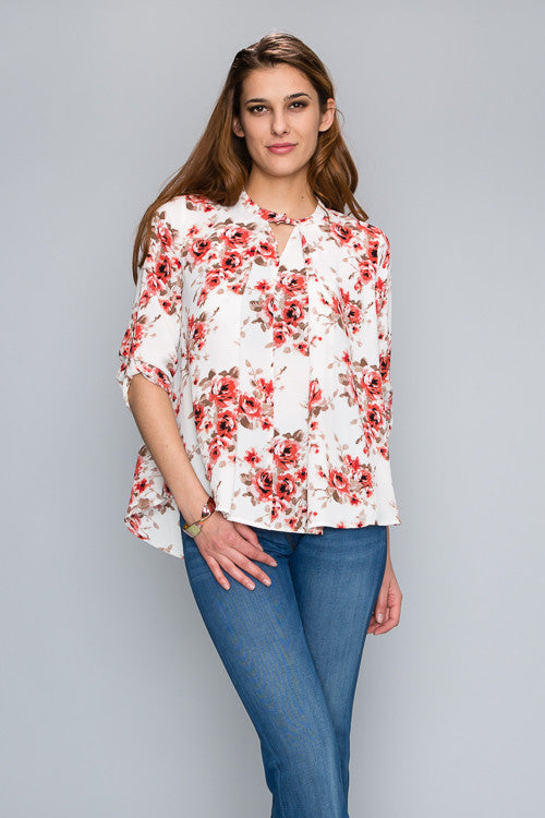 NIC & KAT FLOWERS AND FRIENDS BLOUSE
