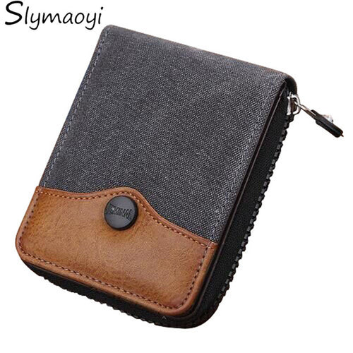 Canvas/leather Mens Wallet