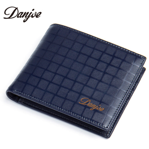 DANJUE leather wallet with a square pattern design