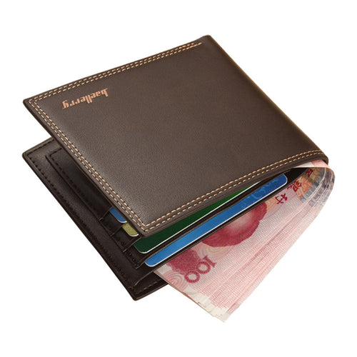 Double Stitch leather wallet