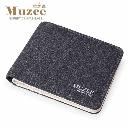 Retro canvas wallet from MUZEE