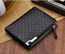 Chequered mens Leather Wallet