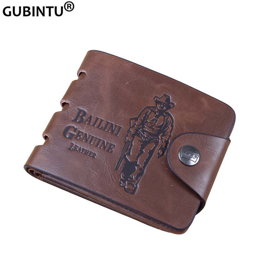 Embossed leather Cowboy wallet