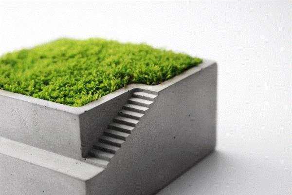 Delicieux Mini Concrete Planter Box