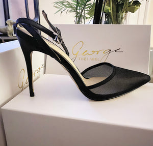 The Lydia Black Mesh Stiletto