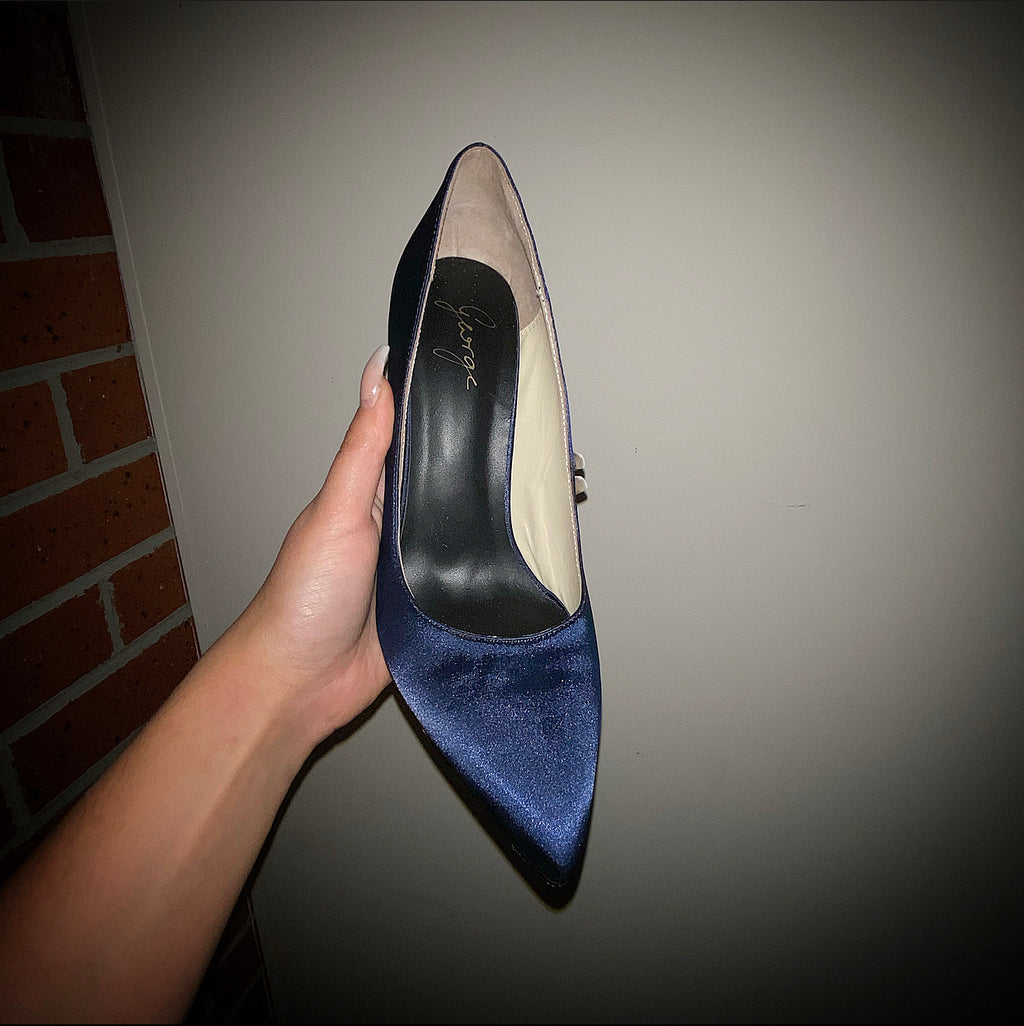 Blue Satin Stiletto - Size 38 & 42