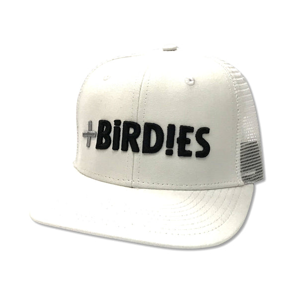 Caquette pour Homme Trucker Blanche MoreBirdies - MoreBirdies