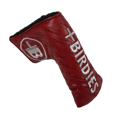 AM&E Red MoreBirdies Hot Stamped Blade Putter Leather Headcover