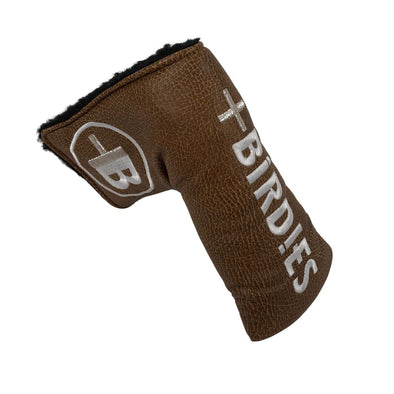 AM&E Brown MoreBirdies Blade Putter Leather Headcover