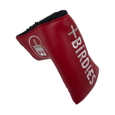 AM&E Red MoreBirdies Mid Mallet Putter Leather Headcover