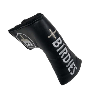 AM&E Black MoreBirdies Blade Putter Leather Headcover