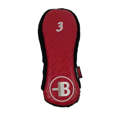 AM&E Red MoreBirdies 3-wood Leather Headcover