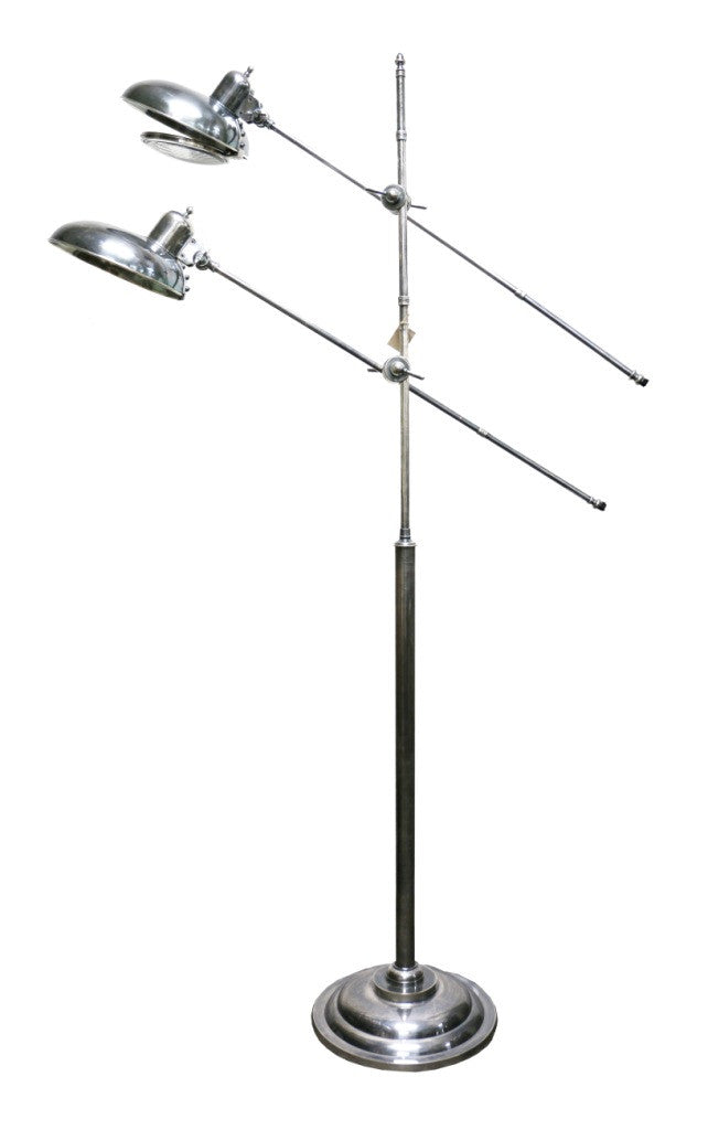 Amazing interiors brushed pewter style floor lamp amazing brushed pewter style floor lamp aloadofball Images