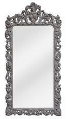 Carved Mirror in Taupe