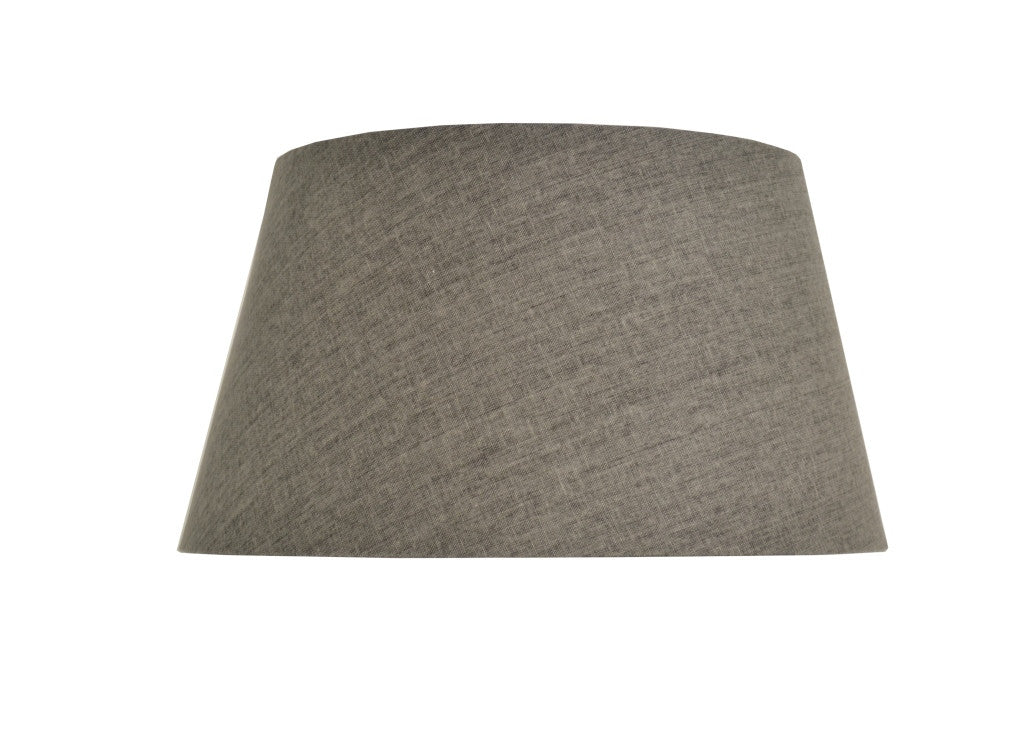 Charcoal Tapered Drum Lampshade