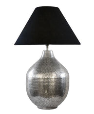 Hammered Ball Lamp Pewter