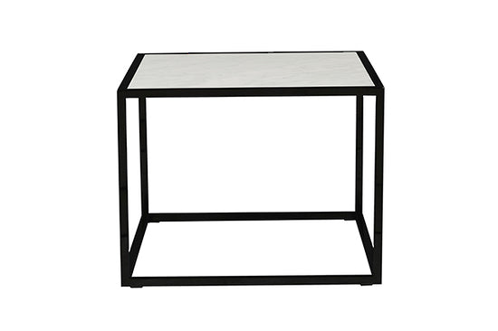 Elle Cube Marble Side Table
