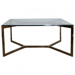 Square Coffee Table - Glass Top