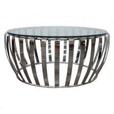 Polished & Clear Round - Coffee Table
