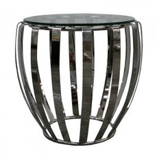 Polished & Clear Round - Side table