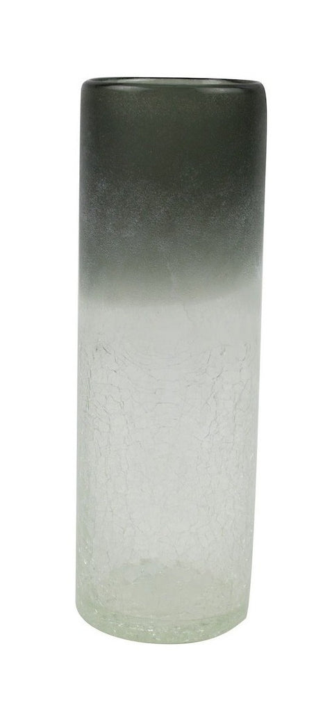 Amazing Interiors Frosted Tall Glass Vase Greyclear Amazing