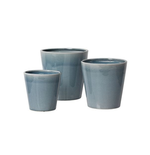 Set of 3 Flowerpot - Flint Stone