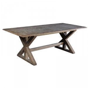 Light Burnt Oak Dining Table