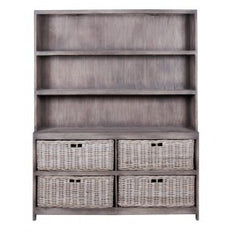 Cabinet with Baskets -  Double  - Old Grey